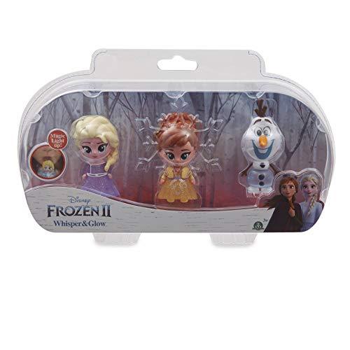 Giochi Preziosi Disney Frozen 2 Whisper and Glow Triple Blister, Elsa, Anna e Olaf