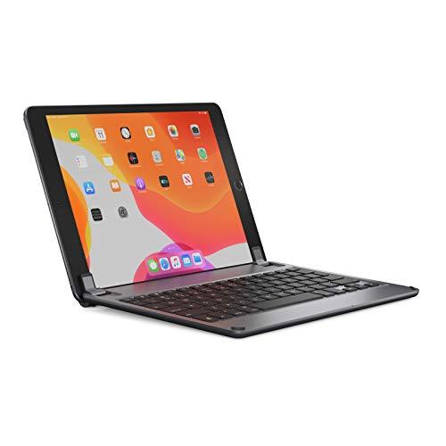BRYDGE Kabellose Tastatur 10.2, kompatibel zu iPad der 8. und 7. Generation, Deutsche QWERTZ-Belegung, grau