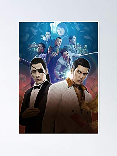 MCTEL Yakuza 0 Poster 11.7x16.5 Inch Frame Board for Office Decor, Best Gift Dad Mom Grandmother and Your Friends