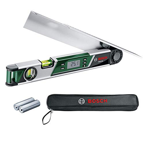 Bosch Home and Garden 0.603.676.000 Medidor de ángulos digital (batería 1.5 V), 0.075 W, Verde