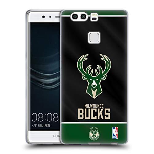 Head Case Designs Ufficiale NBA Banner 2019/20 Milwaukee Bucks Cover in Morbido Gel Compatibile con Huawei P9 Plus
