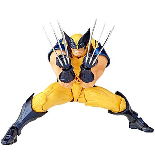 YUANY Figuras de acción móviles de Anime Juguetes de Wolverine Modelo coleccionables muñecas de Personajes Regalos para niños,Wolverine