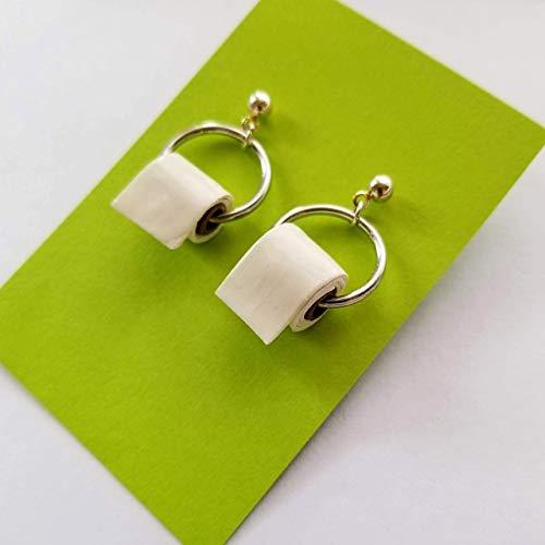 Toilet Paper Roll Earrings