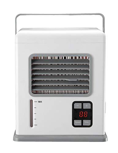 Draagbare luchtkoeler, mini-airconditioning koeler en luchtbevochtiger, luchtreiniger, regelbare snelheid | timer instelling luchtkoeler voor thuiskantoor