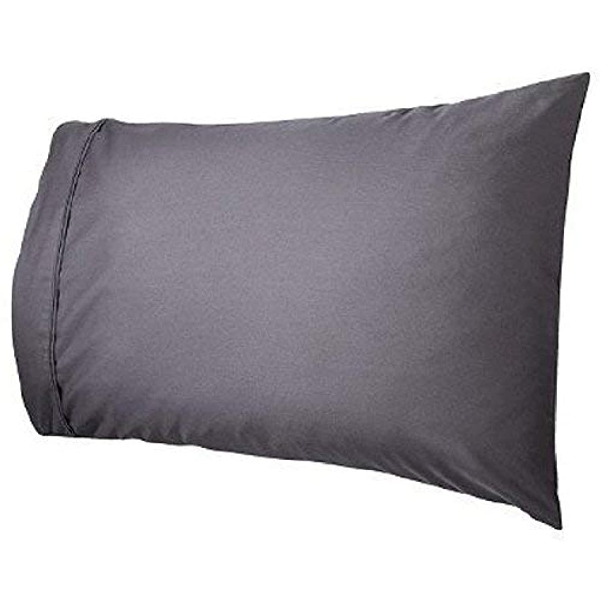 ARlinen Cotton Pillow Cases -(Dark Grey Solid, Queen Size) 400 Thread Count Ultra-Soft (Set of 2) Pillow Covers