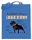 generisch The Anatomy Of A Pitbull – Declaraciones de un perro amado – Bolsa de yute (con asas largas), color Azul, talla 38cm-42cm