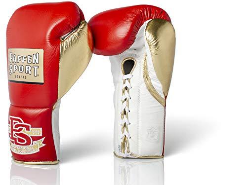 Paffen Sport «Pro Mexican» Profi-Boxhandschuhe – rot/Gold/weiß – 10UZ, XL