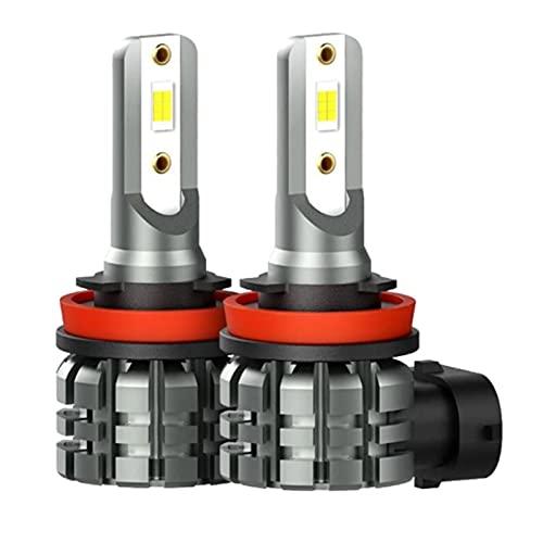 GCS Gcsheng 2 unids H11 H8 H9 LED Luces antiniebla H1 H3 H16 H10 9005 HB3 9006 HB4 H7 LED Bombilla Lámparas de Funcionamiento DIATOR 2400LM 6000K 12V