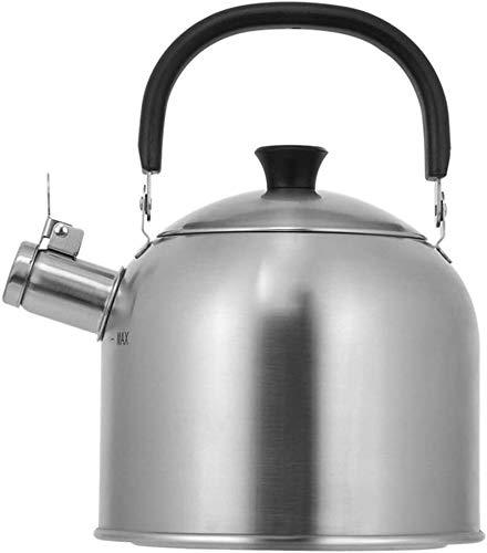 Bouilloire induction Cuisine Bouilloire 3L litre en acier inoxydable Siffoir de sifflement à la maison Thé Boisson chaude Camping Pêche à la cuillère en céramique à gaz WHLONG