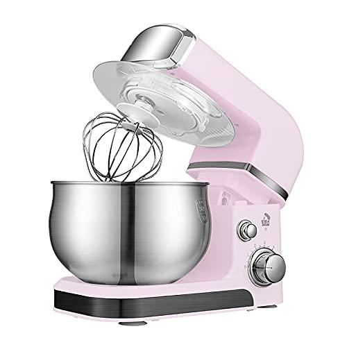 CLING Batidoras eléctricas Cocina batidora pie Cuenco Acero Inoxidable, 3,5 L, 660 W, 6 velocidades para Hornear, Pasteles, Galletas, amasar