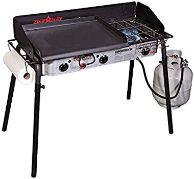 """Camp Chef Professional Flat Top Griddle, True Seasoned Finish steel griddle, 16"""" x 24"""" Cooking Surface"""