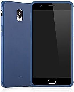 携帯電話ケース, 超スリム純正品質TPU保護ケースシリコーン耐衝撃電話カバーOnePlus 3用 (色 : 青, PATTERN : Solid Pattern)