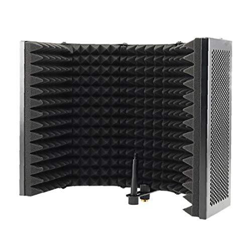 LAANCOO Filtro pop de grabación, panel plegable, difusor de...