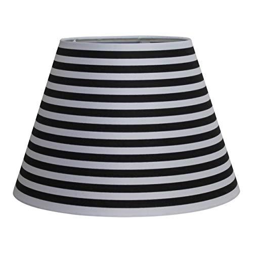 Housevitamin lampenkap 'strepen' - zwart en wit
