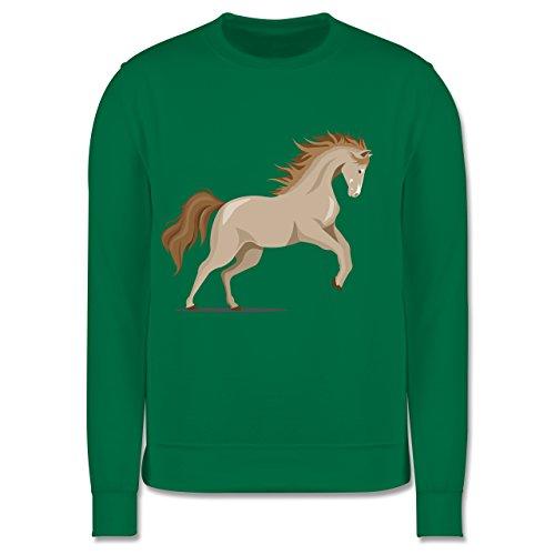 Shirtracer Tiermotive Kind - steigendes Pferd - 116 (5/6 Jahre) - Grün - JH030K - Kinder Pullover
