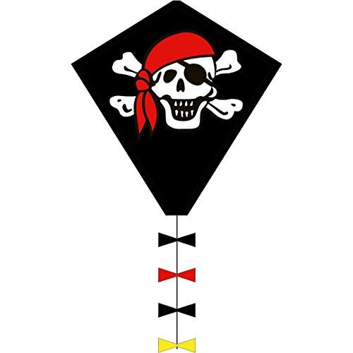 HQ- Eddy Jolly Roger 50 cm Cerf-Volant, 102105, Noir