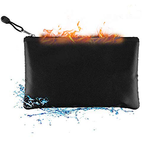 Feuerfeste Tasche, wasserdichte Tasche Feuerfeste Schutztasche Tragbare,faltbare Tasche Geeignet für Dokumente,Bargeld,iPad,Powerbank,Lipo-Akku,Mobiltelefon,Lizenz und Wertsachen,L(34 * 25 cm)