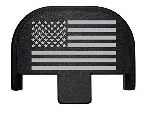 NDZ Performance Rear Slide Cover Back Plate for Smith & Wesson Self Defense S&W SD9 SD40 VE 9mm .40 Black Custom Laser Engraved Image: US Flag