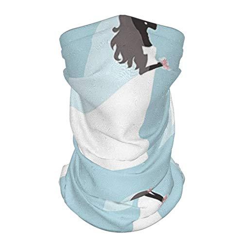 sombrero de seda al aire libre diadema nupcial ducha decoraciones de moda diseño boda vestido de novia con flores es bebé azul blanco y negro reutilizable cuello polaina cara bufanda