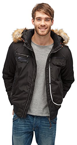 TOM TAILOR Herren Padded Jacket Jacke, Schwarz (Black 2999), X-Large