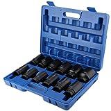 Drive Impact Socket Set, Drive Deep Impact Socket Acero al cromo vanadio una caja de almacenamiento de plástico para uso comercial para fábrica