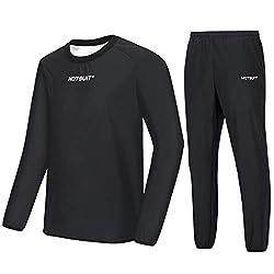 professional HOTSUIT Sauna Suit Men Slimming Jacket Gym Boxing Training, Black, L.