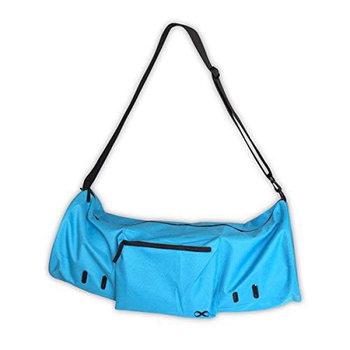 YogaAddict - Borsa per tappetino da yoga (extra large), compatta, con tasca, misura 15 mm, lunghezza 73,7 cm, facile accesso, colore: azzurro cielo