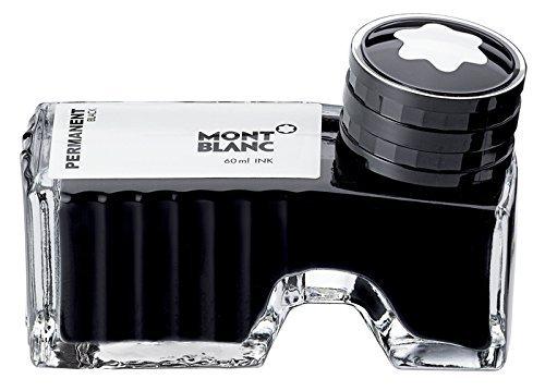 Montblanc 107755 - Flacone d'inchiostro Permanent black (nero indelebile) – Ink di alta qualità in boccetta per penna stilografica, 60 ml