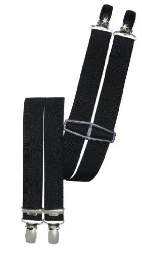 Harrys-Collection Hosenträger mit 4 Clips 9 Farben lieferbar 25 mm breit, Farbe:schwarz