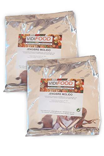 Jengibre molido - 1kg - Raíz de jengibre en polvo con todo su sabor - Zingiber Officinale - Dieta cetogénica, paleo y vegana