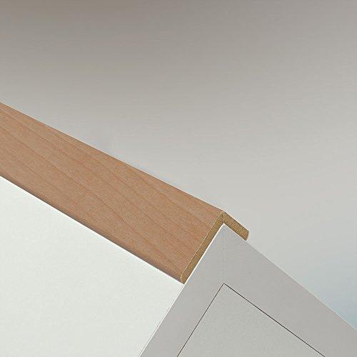 Winkelleiste Schutzwinkel Winkelprofil Tapeten-Eckleiste Abschlussleiste Abdeckleiste aus MDF in Ahorn 2600 x 42 x 22 mm