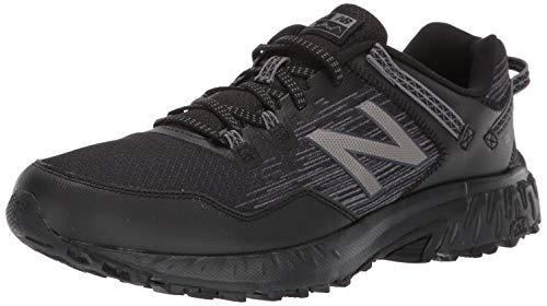 New Balance Men's 410v6 Cushioning Trail Running Shoe, Black/Castlerock/Dark Silver, 11.5 D US