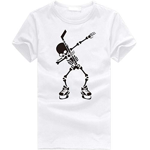 neiabodos Camiseta de manga corta con estampado 3D de estilo informal para primavera y verano, para hombre y mujer, blanco, 3XL
