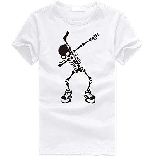 neiabodos Camiseta de manga corta con estampado 3D de estilo informal para primavera y verano, para hombre y mujer, blanco, XXL