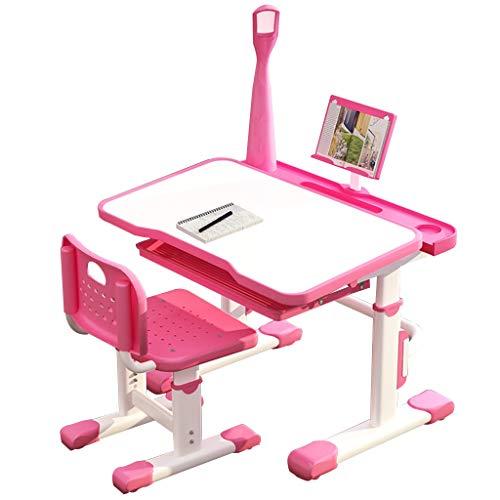 Ensembles de tables et chaises Bureau Bureau pour Enfants Rose Tables Et Chaises Montantes Et Automnales Bureau De Devoirs pour Étudiante De Sexe Masculin Panneau De Pein
