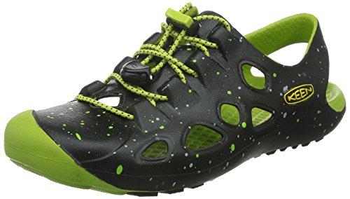 KEEN Rio Kinder Jungen Schuhe Children Sandale Freizeit Badeschuhe Wassersandale Slip-On, Schuhgröße:24;Farbe:grün