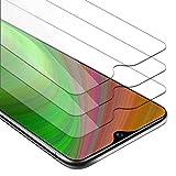 Cadorabo 3X Película Protectora para Vivo Y95 en Transparencia ELEVADA - Paquete de 3 Vidrio Templado (Tempered) Cristal Antibalas Compatible 3D con Dureza 9H