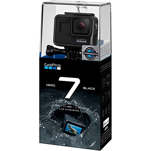 GoPro Hero 7 Black Action Camera + Extra USA Battery + Sandisk 32GB MicroSDHC U3 and Free Polaroid 16GB MicroSD Memory Card