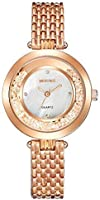 Mestige Women's White Dial Alloy Band Watch - MSWA3092