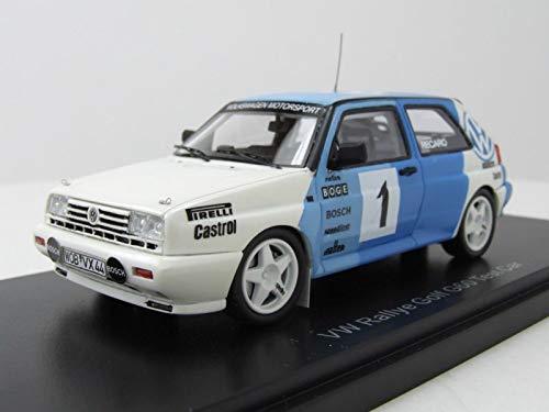 Neo VW Golf 2 G60 Rallye Test Car #1 1989 blau weiß Modellauto 1:43 Scale Models