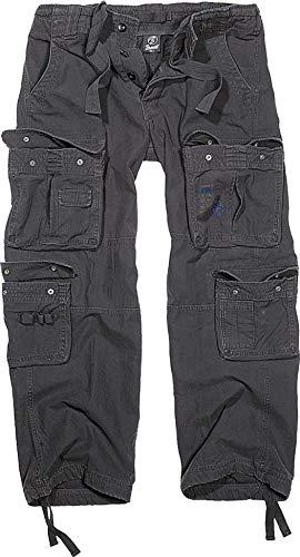 Brandit Pure Vintage Pantaloni, Schwarz (Schwarz 2), 56 (Taglia Produttore: XX-Large) Uomo