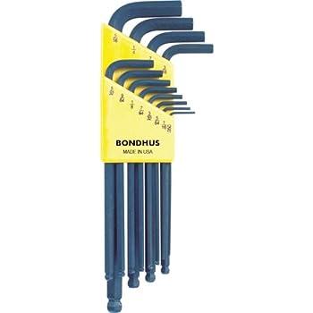 """BONDHUS 2 mm T-Poignée Boucle Clé Hexagonale 9/"""" 2 mm 15552"""
