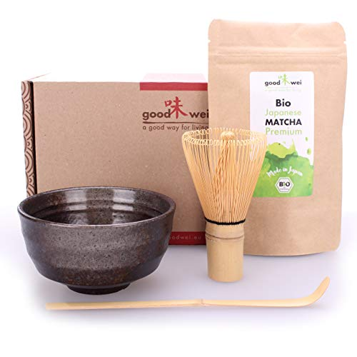 Matcha Tee Starter-Set mit japanischem Bio Matcha (Goma)