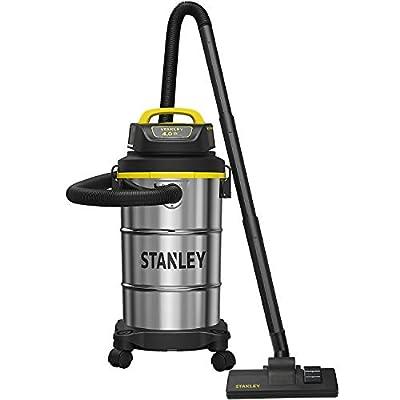 Stanley 5 Gallon Wet Dry Vacuum, Powerful 4 Peak HP Suction, Portable Stainless Steel Shop Vac, Multifunctional Shop Vacuum for Household, Job Site, Upholster, Garage, Workshop SL18130
