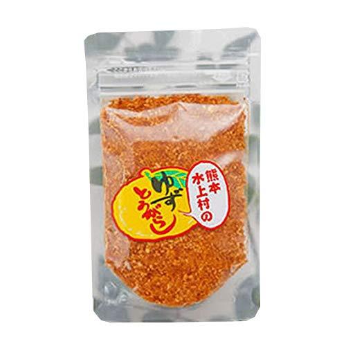 熊本水上村のゆずとうがらし 詰め替え用 28g×6袋 たけうち 厳選した熊本・水上村産の柚子の皮を贅沢に使用 薫り高いユズ皮のコクのある唐辛子 一味や七味唐辛子の代わりに