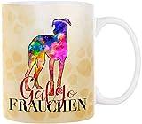 Cadouri Hunde-Tasse GALGO FRAUCHEN mit Hunderasse┊Kaffeetasse Bürotasse┊tolle Geschenkidee für Hundebesitzer