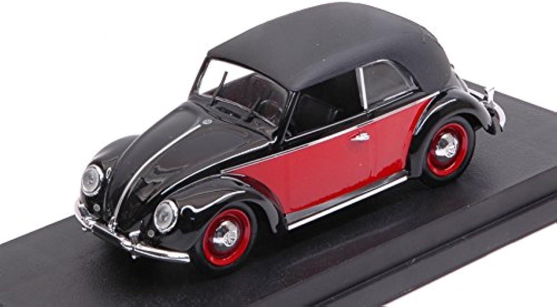 VW CABRIO KARuomoN 1949 nero rosso 1 43 Rio Auto Stradali modellololo modellololino die cast