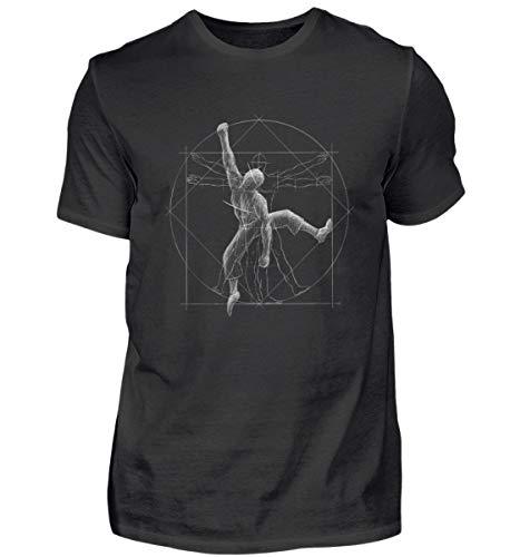 Shirtee Vitruvian Hombre Escalada - para Todos los escaladores y búlderes –...