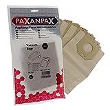 Paxanpax VB463 - Bolsas de Papel compatibles Philips T520 Turbo, Vitall Oslo+ Series (Paquete de 5)