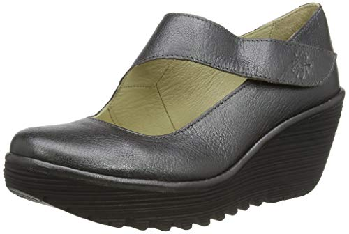 Fly London Damen YASI682FLY Keil-Schuhe, Grau Graphit 047, 37 EU